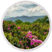 Catawba Rhododendrons Round Beach Towel
