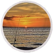 Catch Of The Day Round Beach Towel