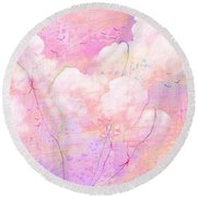 Catching Clouds Round Beach Towel
