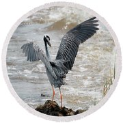 Catching The River Breeze Round Beach Towel
