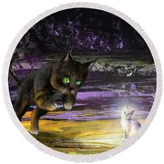 Catechismic Apparition Round Beach Towel