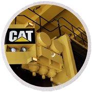 Caterpillar 797f Mining Truck 02 Round Beach Towel