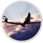 Cathay Pacific Airbus A330-343 Round Beach Towel