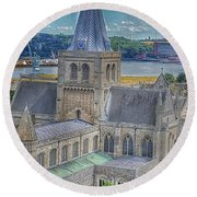 Cathedral Closeup Round Beach Towel
