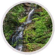 Cathedral Falls 2 Round Beach Towel
