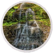 Cathedral Falls 3 Round Beach Towel