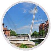 Cathedral Green Bridge At Derby Round Beach Towel