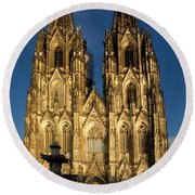 Cathedral In Cologne  Round Beach Towel