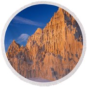 Cathedral Mounds Round Beach Towel