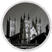 Cathedral Of Canterbury Round Beach Towel