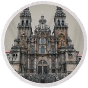 Cathedral Of Santiago De Compostela Round Beach Towel by Jasna Buncic