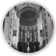 Cathedral Of St. John In Nyc Round Beach Towel