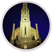 Cathedral Of The Assumption, Carlow, Co Round Beach Towel