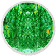 Cathedral Of Trees Round Beach Towel