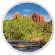 Cathedral Rock 313 Round Beach Towel