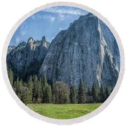 Cathedral Rock And Spires Round Beach Towel