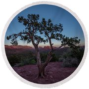 Cathedral Rock Round Beach Towel by Gary Lengyel