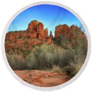 Cathedral Rock In Sedona Round Beach Towel