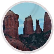 Cathedral Rock Moon 081913 H Round Beach Towel