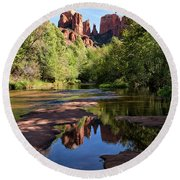 Cathedral Rock Of Sedona Round Beach Towel