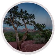 Cathedral Rock Overview Round Beach Towel by Gary Lengyel