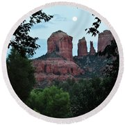 Cathedral Rock Rrc 081913 Aa Round Beach Towel