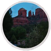 Cathedral Rock Rrc 081913 Ae Round Beach Towel
