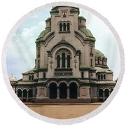 Cathedral Saint Alexandar Nevski Round Beach Towel