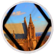 Cathedral Sky Round Beach Towel