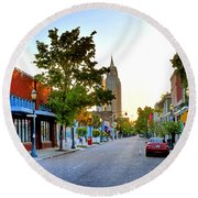 Cathedral Square Gallery On Dauphin Street Mobile Round Beach Towel