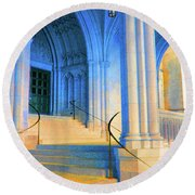 Cathedral Steps Round Beach Towel