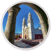 Cathedral Viewed From Balcony Round Beach Towel
