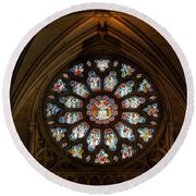 Cathedral Window Round Beach Towel