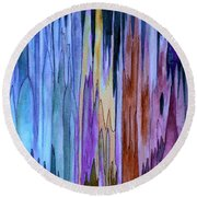 Cathedrals Round Beach Towel