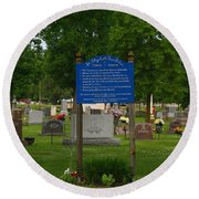 Catholic Cemetery Round Beach Towel