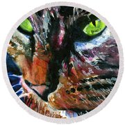 Cats Eyes 11 Round Beach Towel