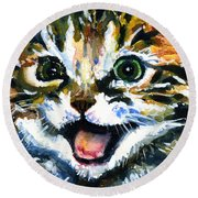 Cats Eyes 15 Round Beach Towel