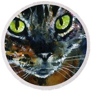 Cats Eyes 16 Round Beach Towel