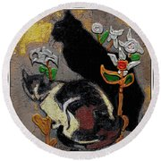 Cats Round Beach Towel