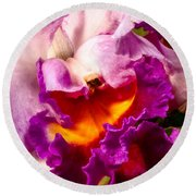 Cattleya IIi Round Beach Towel