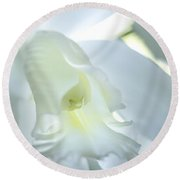 Cattleya Orchid #1 Round Beach Towel