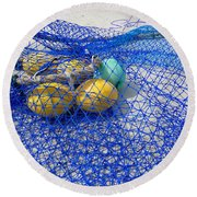 Caught Round Beach Towel