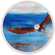 Caught You Round Beach Towel