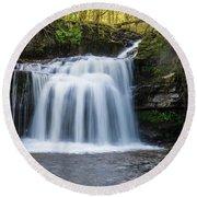 Cauldron Falls,west Burton, North Yorkshire. Round Beach Towel