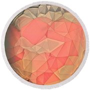 Cause And Effect  Round Beach Towel