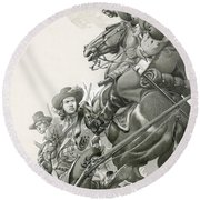 Cavalry Charge Round Beach Towel
