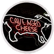 Cave Aged Cheese Round Beach Towel
