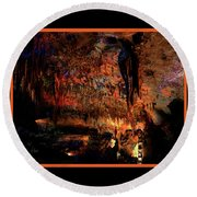 Cave Colors Round Beach Towel