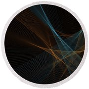 Cave Computer Graphic Line Pattern Round Beach Towel