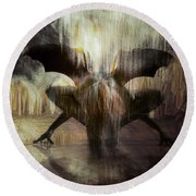 Cave Dweller Round Beach Towel